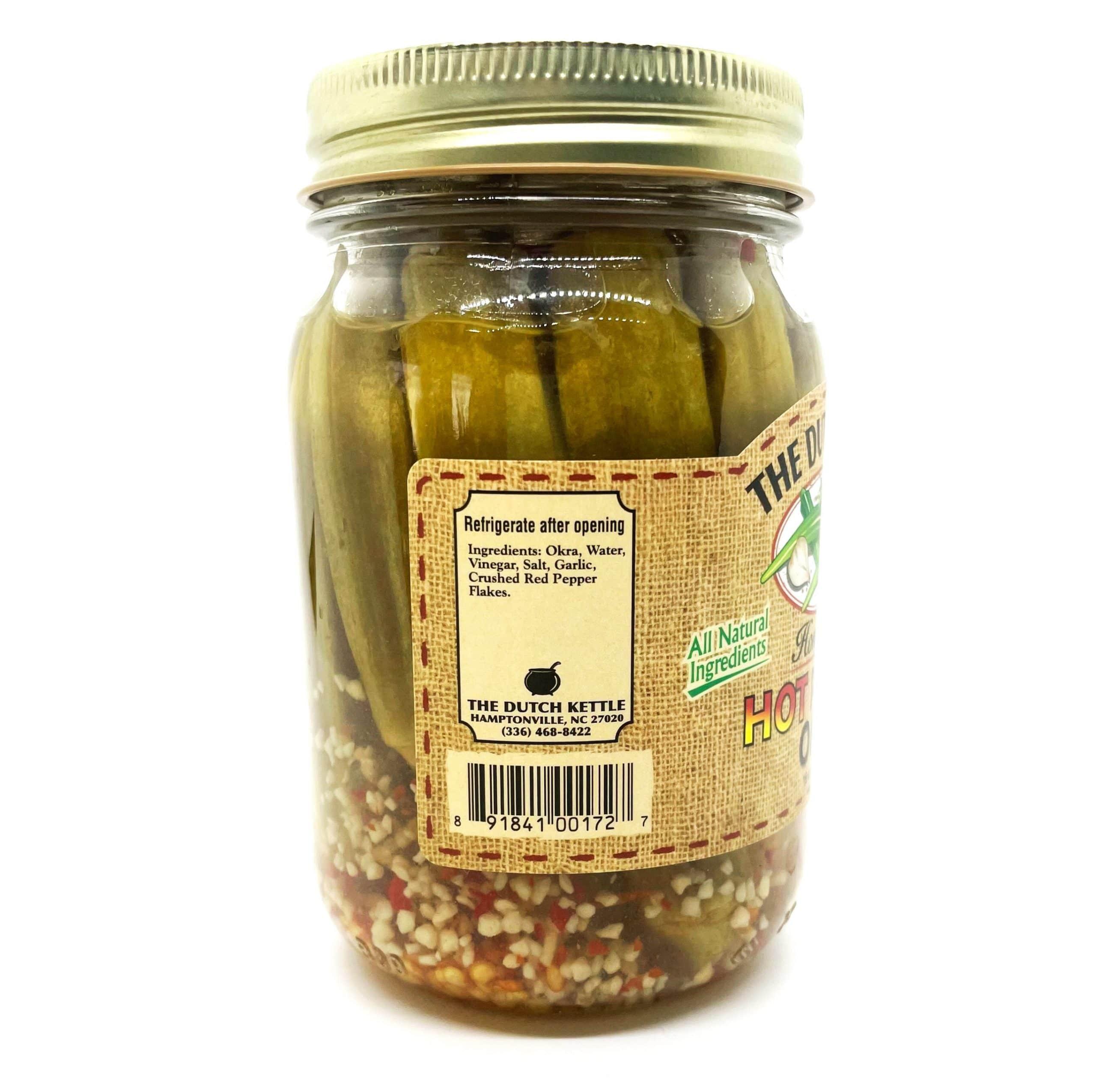 Hot Okra Ingredients