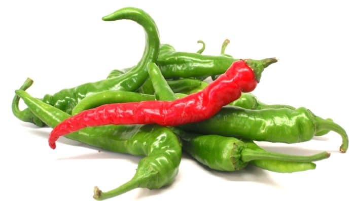Green Cayenne Peppers
