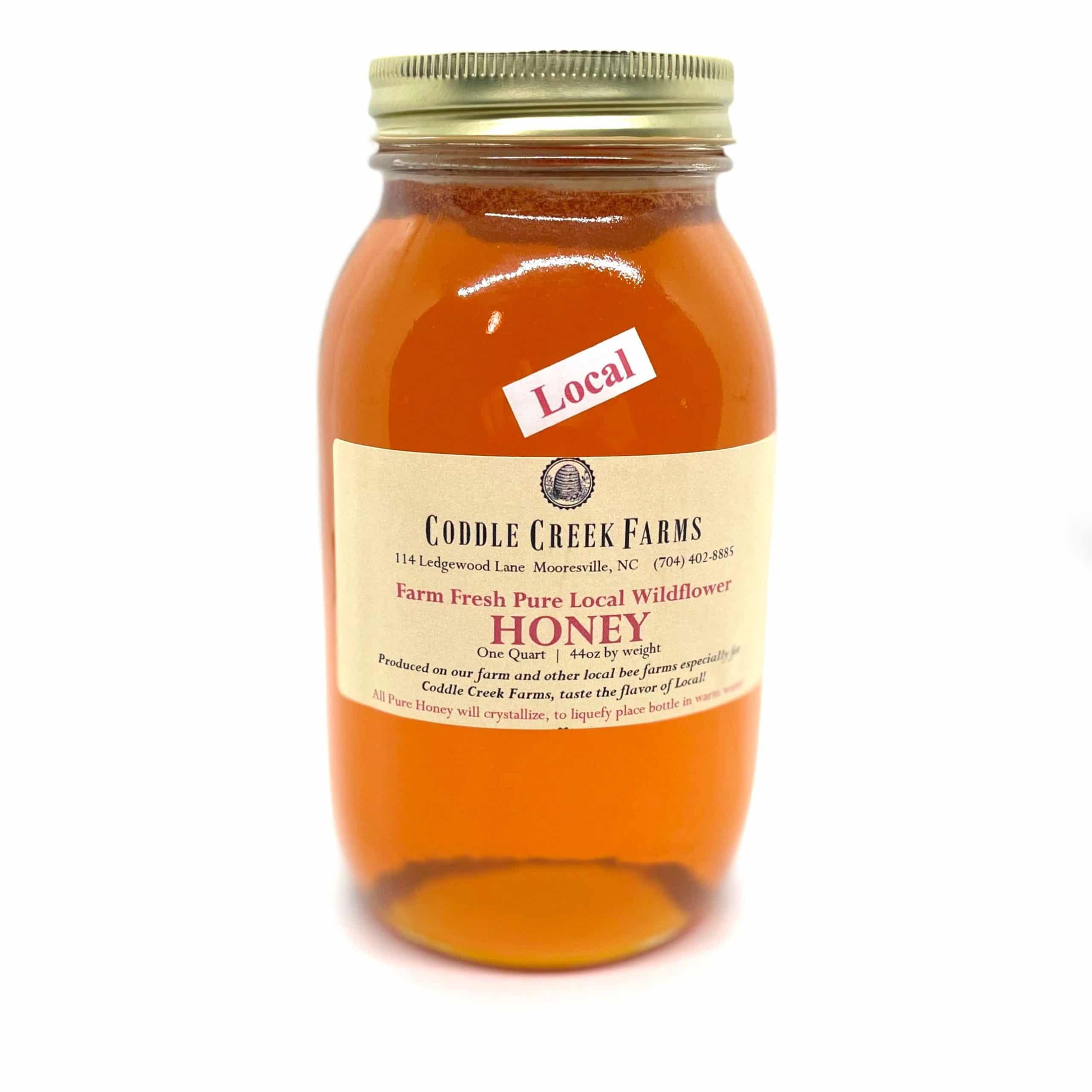 44oz glass honey