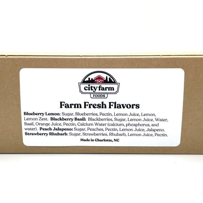 Farm Fresh Flavors Jam Set label