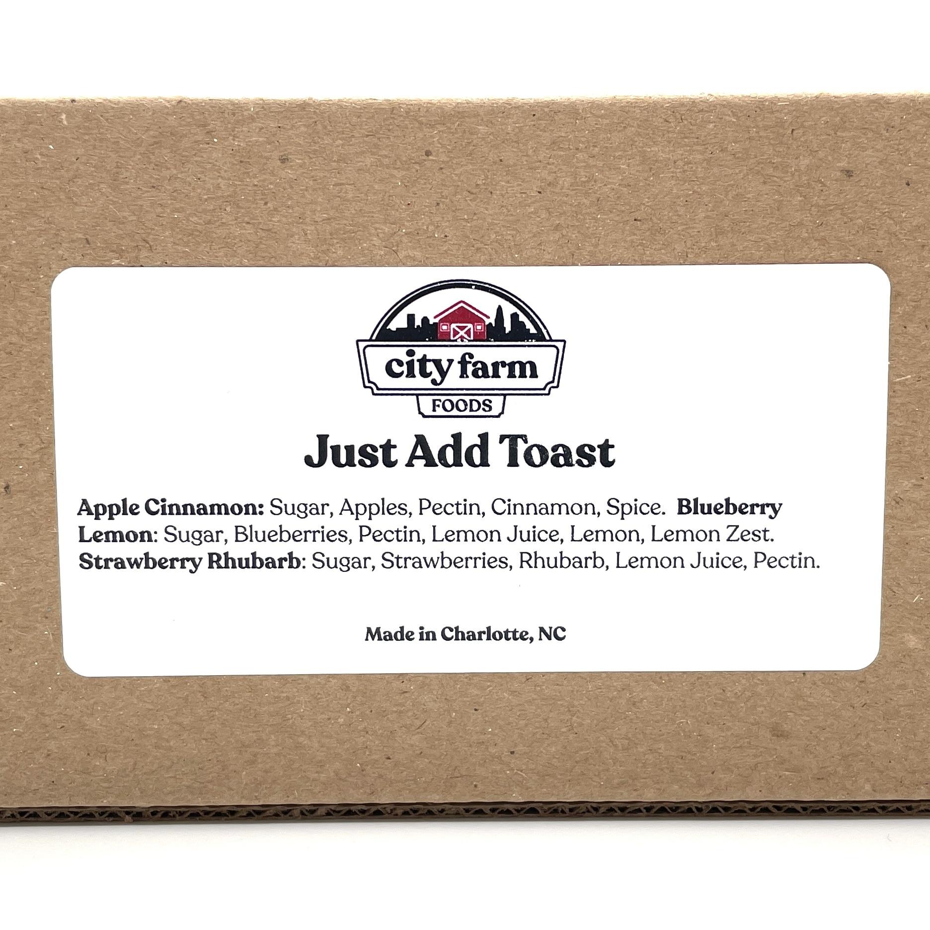 Just Add Toast Jam Set Label